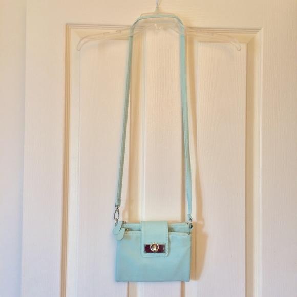 Mint green New York & Company cross-body purse